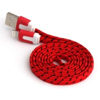 Flat braided Charger Cable 8 Pin