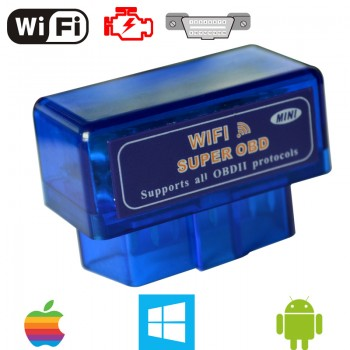 Mini WiFi ELM327 OBD2 II Petrolic Car Diagnostic Code Scan Scanner Tool For IOS