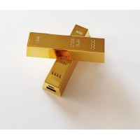 Gold Bar 2600mah Power Bank Portable Back-up Power for iPhone Samsung MP3 MP4 Mobile Phone with retail box