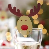 Rocking Rudolf - Glass Decoration - 10 pack