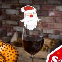 Christmas Craft - Santa Glass Decorations - 10