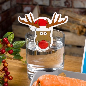 Christmas Craft - Rudolph Glass Decorations -10