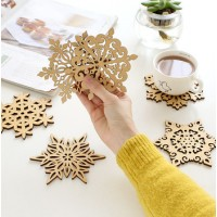 Snowflake Wood Coasters