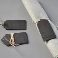 Mini Wooden Retangle Chalkboard Blackboard Wedding Place Card Parties Label Tags 10pcs