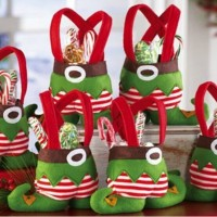 Elf Spirit Pants Candy Gift Bag Sweet Sack Stocks Filler