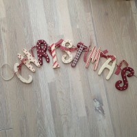Christmas Wooden Garland