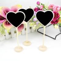 5x Heart Wooden Chalkboard Backboard Wedding Party Table Decor