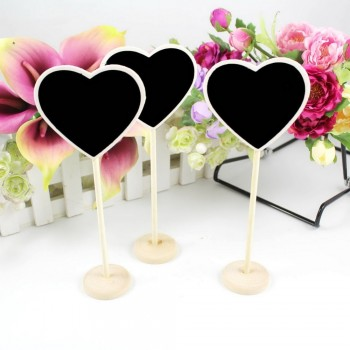 5x Heart Wooden Chalkboard Backboard Wedding Party Table Decor