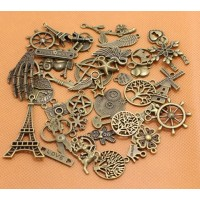 Antique Bronze tibetan charms and pendants VINTAGE STEAMPUNK CUTE JEWELLERY MIXS