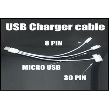 3 in 1 Charging cable for Smartphones