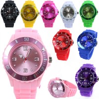 Classic Stylish Silicon Jelly Strap Unisex Wrist Watch Optional Men/Women's NEW