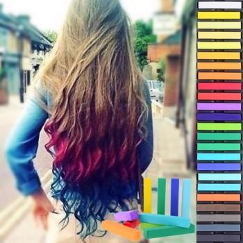 24 Coloured Hair Chalk Pack