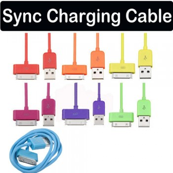 Multi Color USB Data Sync Charger Charging Cable Kable For iPhone 4 3G 3GS iPod