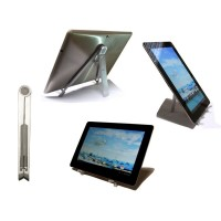 Metal Compact Universal Foldable Desk Stand For Apple iPad 1st/2nd/3rd gen/ ANY TABLET(Holds up to 10 KG in weight)