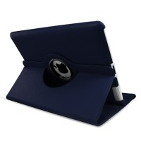 Stand Wallet 360 Degree Rotating Leather Case For iPad 2 2nd Gen + Film +Stylus Pen